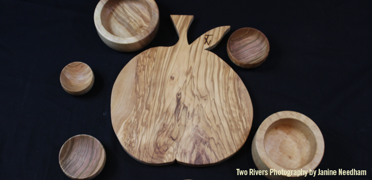 Olive Wood Board and Bowls